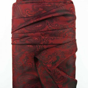 Opulent Red Paisley Lining