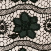 Leatherette Floral Lace