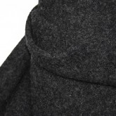 Dark Marled Grey Washed Wool