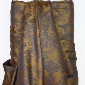 Bronze & Royal Paisley Lining