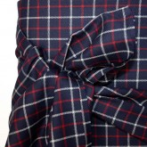 Navy Check Wool Suiting