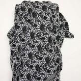 Black & Grey Rose Brocade
