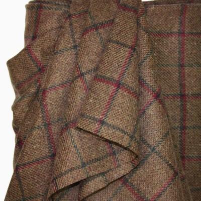Chestnut Wool Check