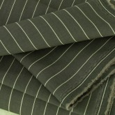 Mole Grey Pinstripe Wool - Sample