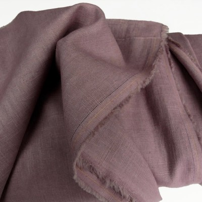 Old Rose Enzyme Washed Linen - Sample