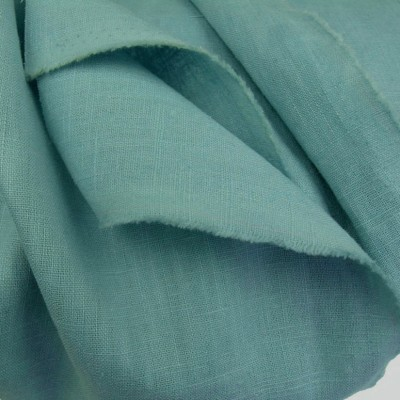 Duck Egg Enzyme Washed Linen - Sample