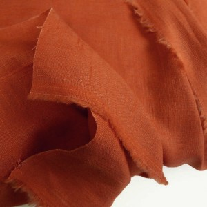 Tangerine Enzyme Washed Linen