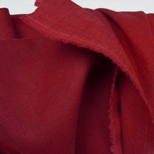 Rich Red Enzyme Washed Linen
