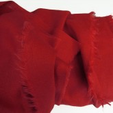 Vibrant Red Enzyme Washed Linen - Sample