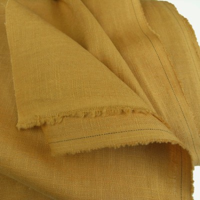 Mustard Enzyme Washed Linen - Sample