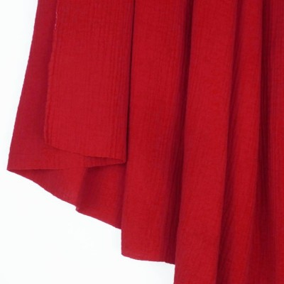 Red Double Gauze - Sample