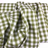Olive 9mm Cotton Check