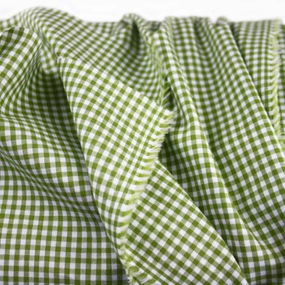 Olive 3mm Cotton Check - Sample