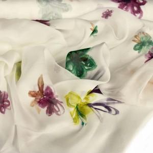 Sketchy Floral Silk Chiffon