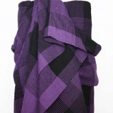 Purple Crinkle Check Linen