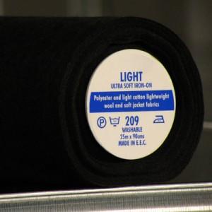 Black Light Ultra Soft Iron-On
